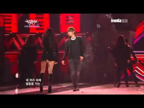 6/1/2012 Trouble Maker performed on 'KBS's Music Bank' goodbye stage: Trouble Maker (JS & Hyuna)