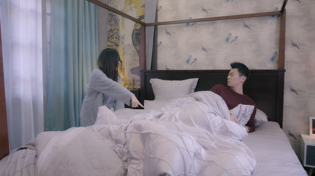 Zhu Ya Wen and Wang Li Kun end up in bed together: Across the Ocean to See You