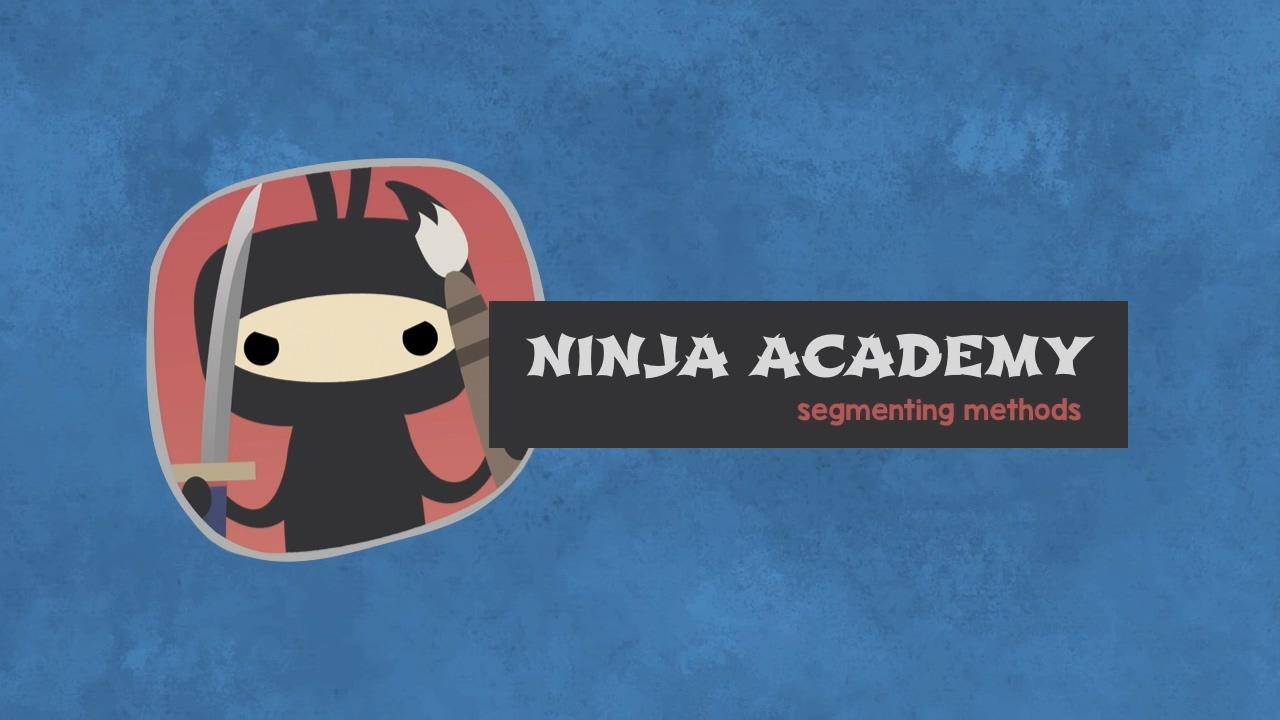 Ninja Segging & Subbing Academy Episode 3: Segmenting Methods